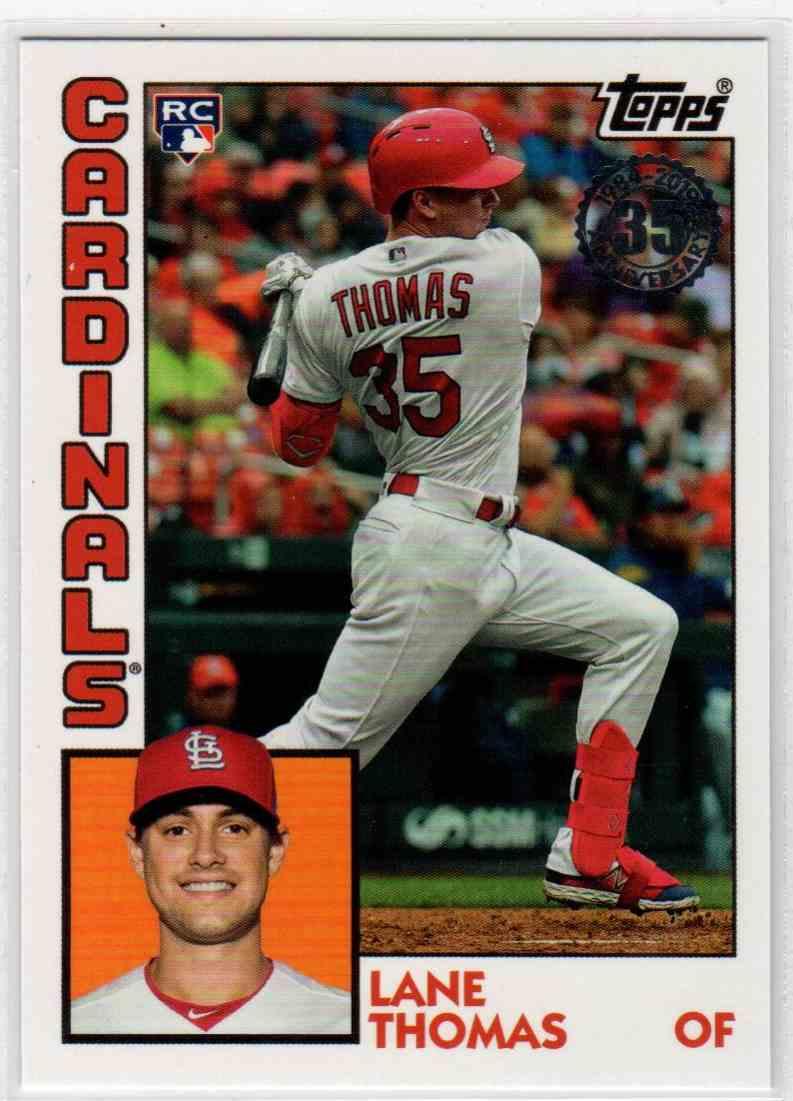 2019 Topps Update 1984 Topps Baseball Lane Thomas #84-23 card front image