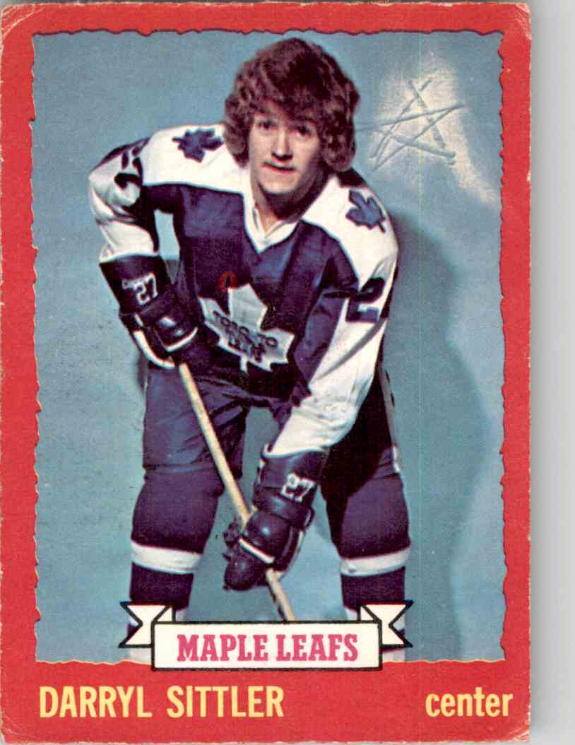 1973-74 O-Pee-Chee Darryl Sittler #132 card front image