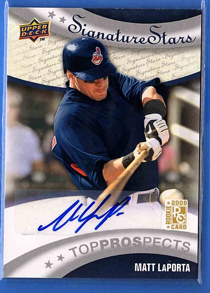 2009 Upper Deck Signature Stars Matt LaPorta Au RC #190 card front image