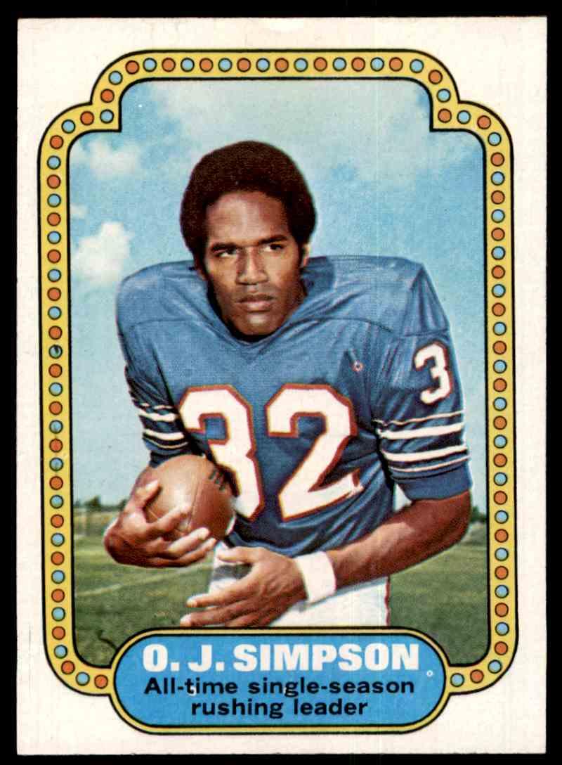 1974 Topps Oj Simpson Vgexslight Crease Top Front 1 On