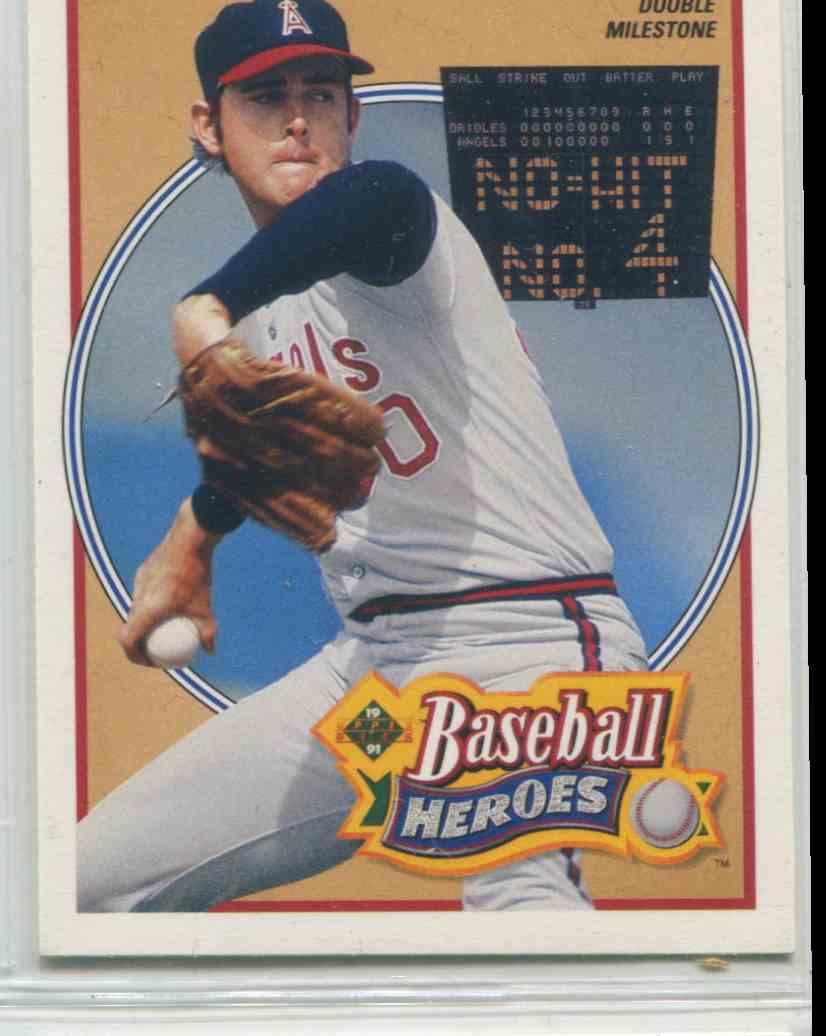 1990 Upper Deck Baseball Heroes Nolan Ryan 12 On