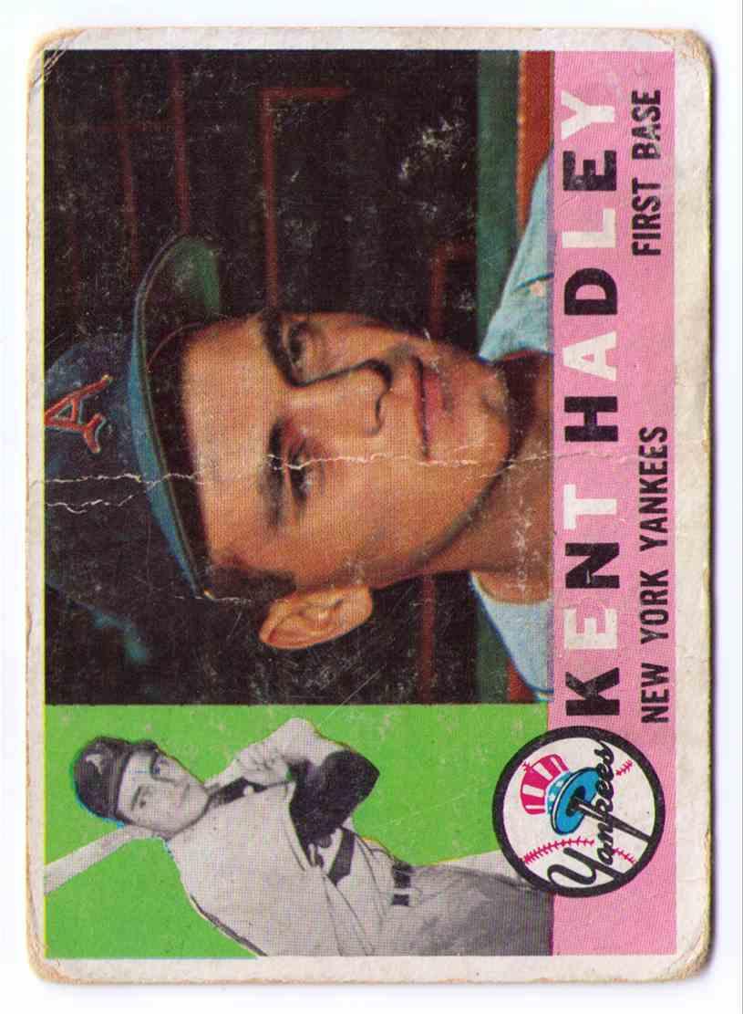 1960 Topps Baseball Card Kent Hadley #102 card front image