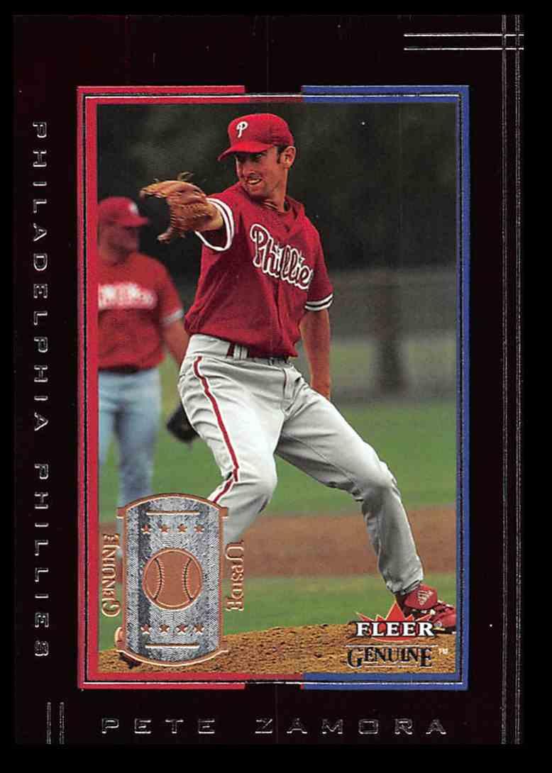 2002 Fleer Fleer Genuine Pete Zamora #111 card front image