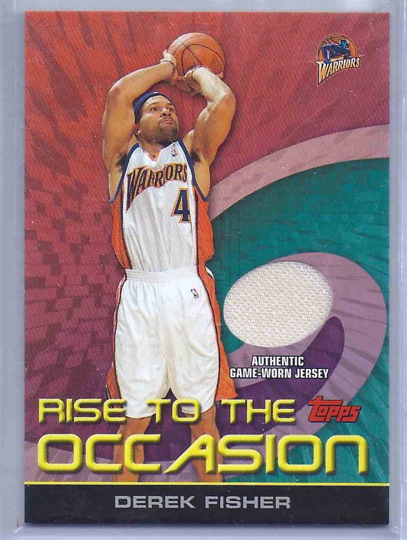 2005-06 Topps Rise To The Occasion Relics Derek Fisher #DF card front image