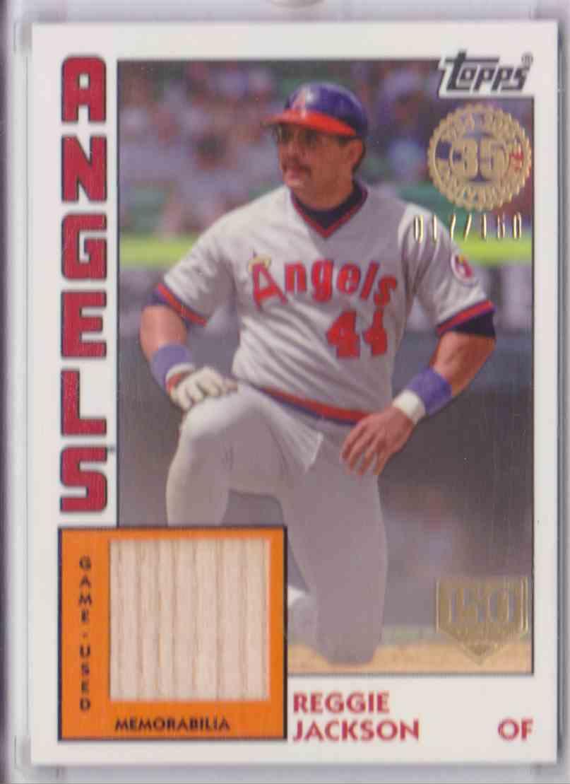 2019 1984 Topps Baseball Relic Card 150th Anniversary Topps Series One Reggie Jackson #84R-RJ card front image