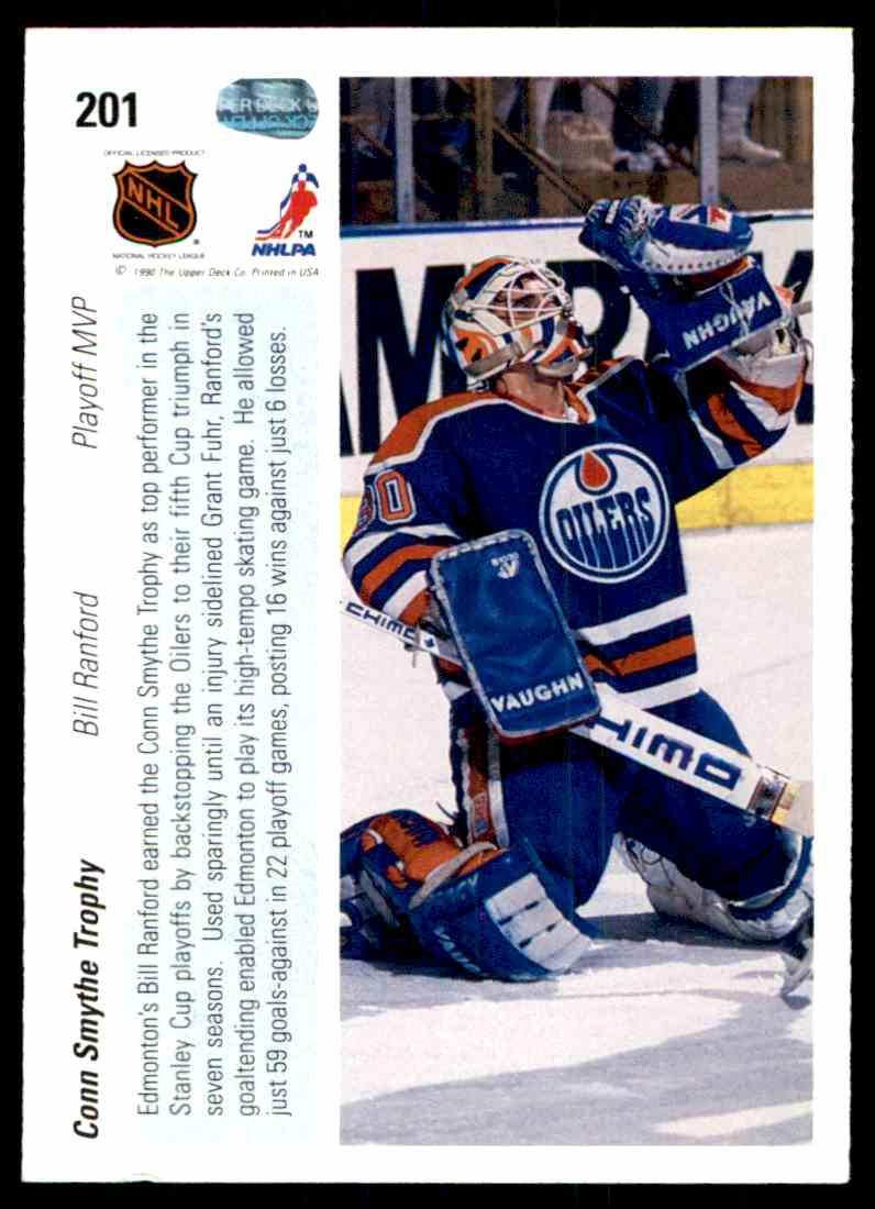 1990-91 Upper Deck Bill Ranford Conn Smythe Trophy #201 on