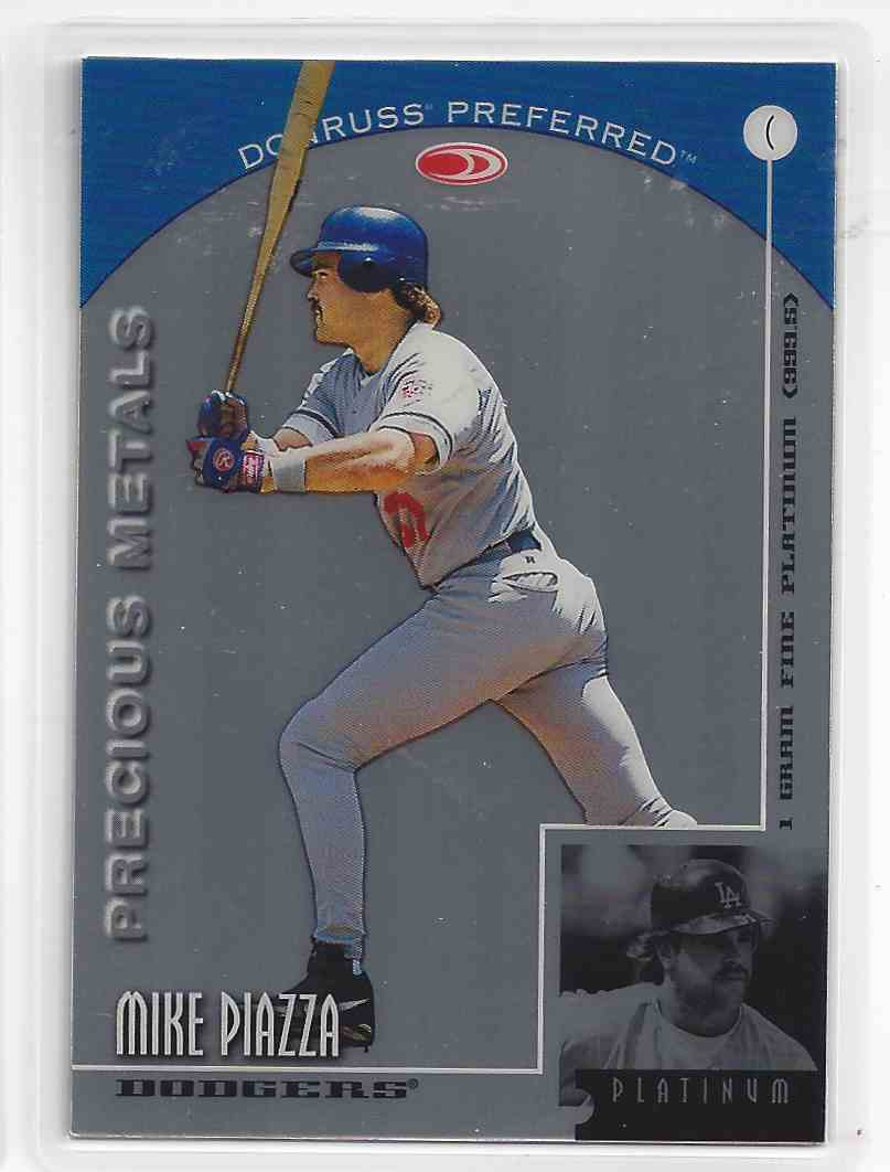 1998 Donruss Preferred Precious Metals Platinum Mike Piazza #C card front image