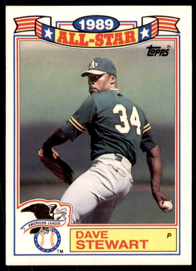 1989 Topps Baseball Dave Stewart 21 Of 22 On Kronozio
