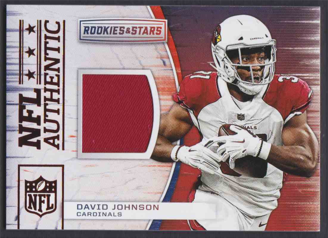 2018 Rookies & Stars NFL Authentic David Johnson #A-2 card front image