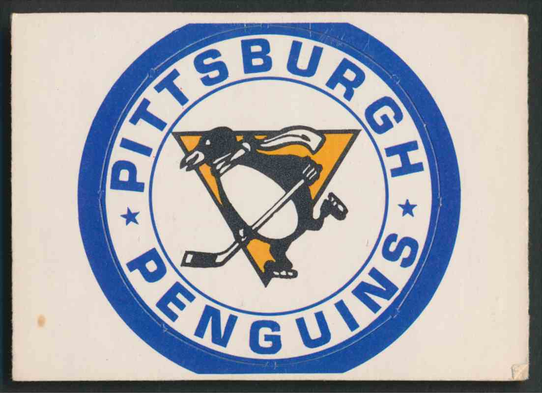 1972-73 O-Pee-Chee Pittsburgh Penguins Logo card front image