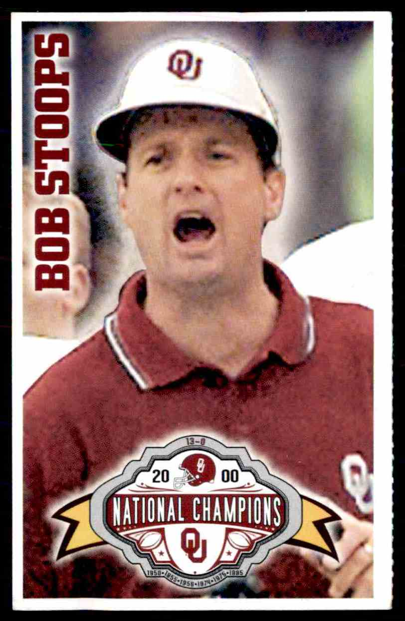 2000 Conoco Ou Sooners National Champions Bob Stoops card front image