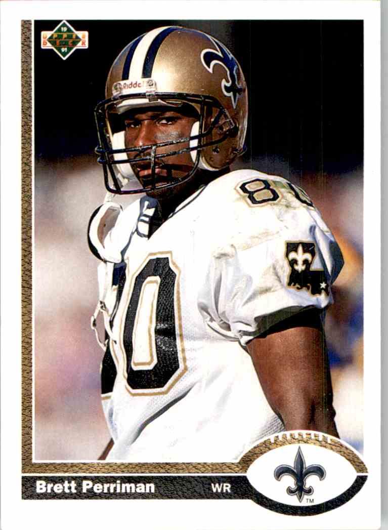1991 Upper Deck Brett Perriman #58 card front image