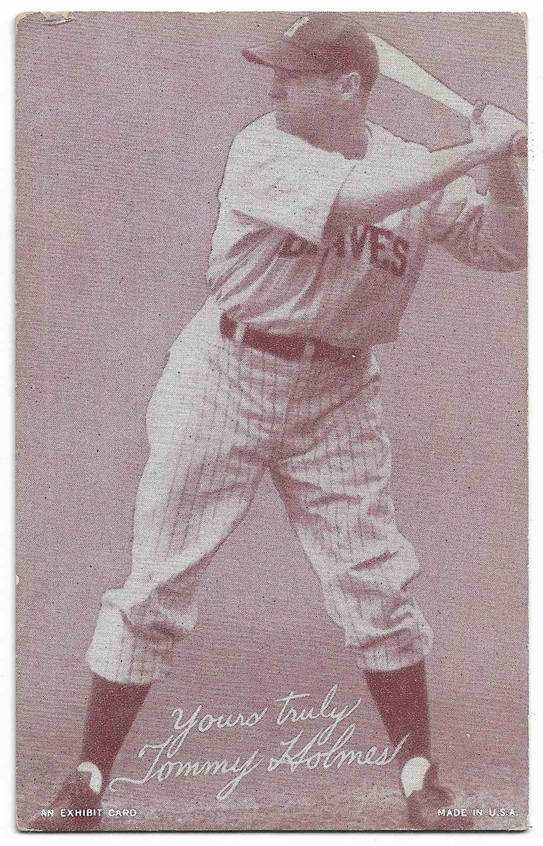 1939 Exhibits Salutations Tommy Holmes card front image