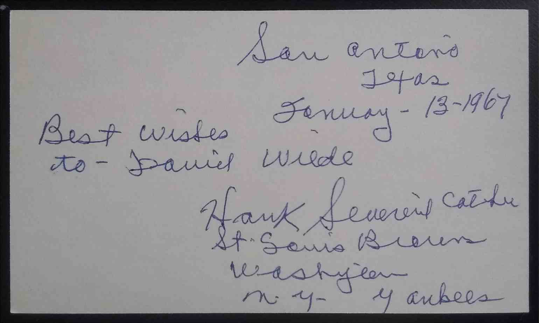 1911 3X5 Hank Severeid card back image