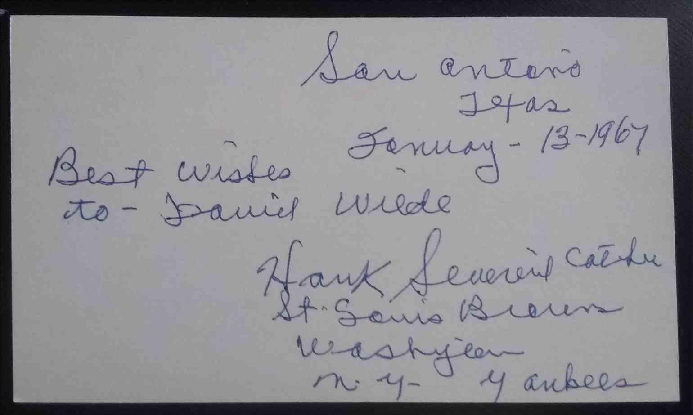 1911 3X5 Hank Severeid card front image