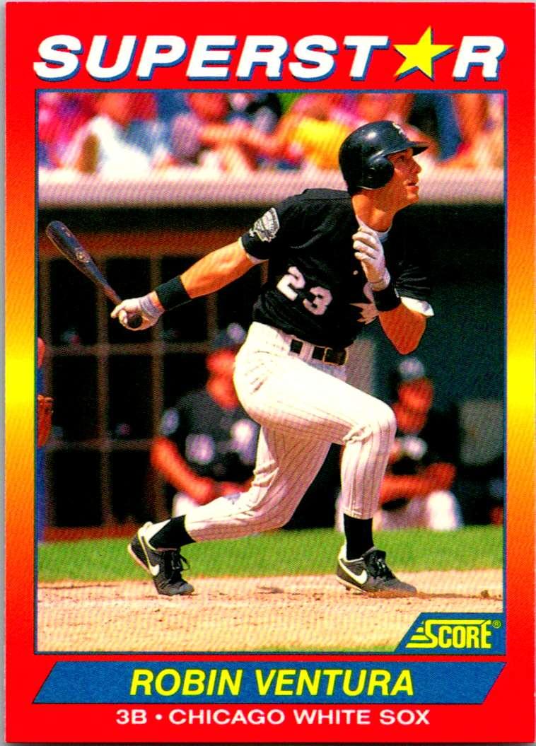 1992 Score 100 Superstars Robin Ventura #33 card front image