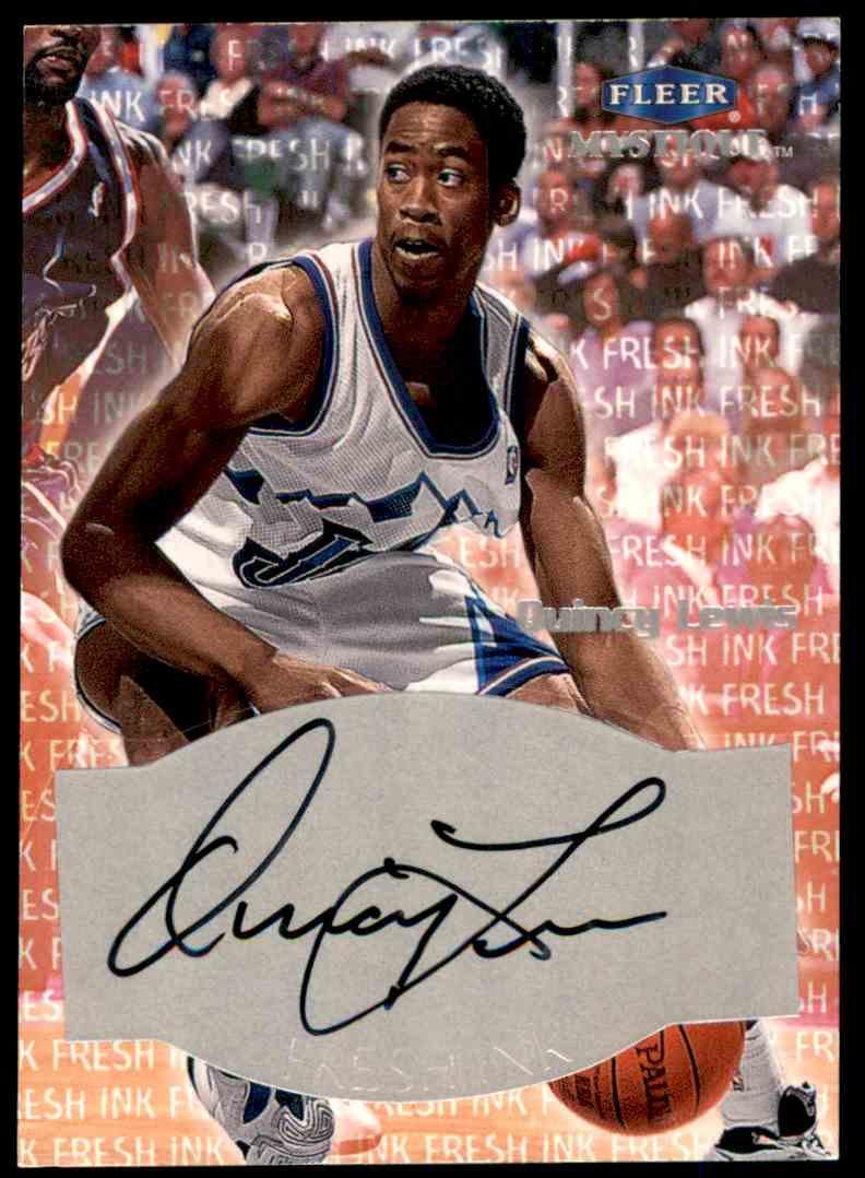 1999-00 Fleer Mystique Fresh Ink Quincy Lewis #24 card front image