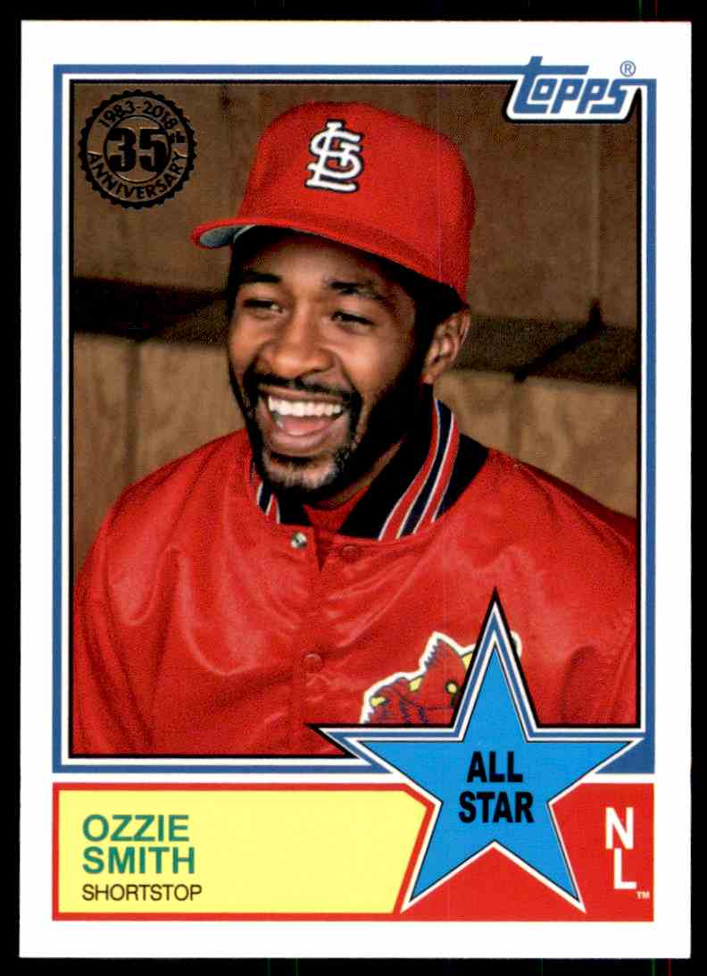2018 Topps Series 2 1983 All-Star Insert Ozzie Smith #68 card front image