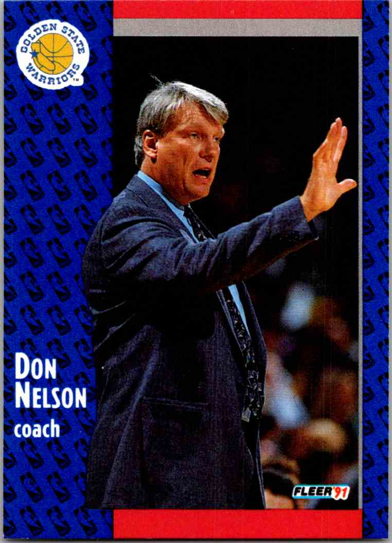 1991-92 Fleer Don Nelson #70 card front image