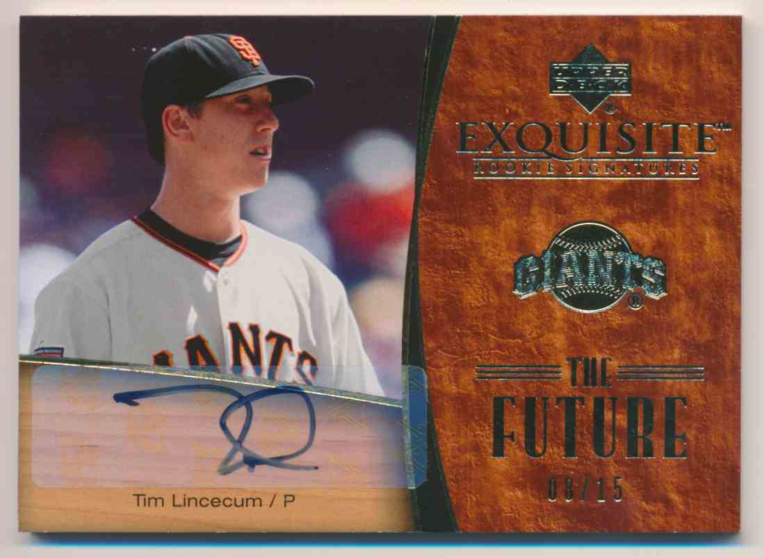 2007 Upper Deck Exquisite Rookie Signatures The Future Tim Lincecum card front image
