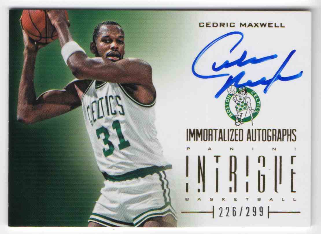 2012 13 Panini Intrigue Immortalized Autographs Cedric Maxwell 2