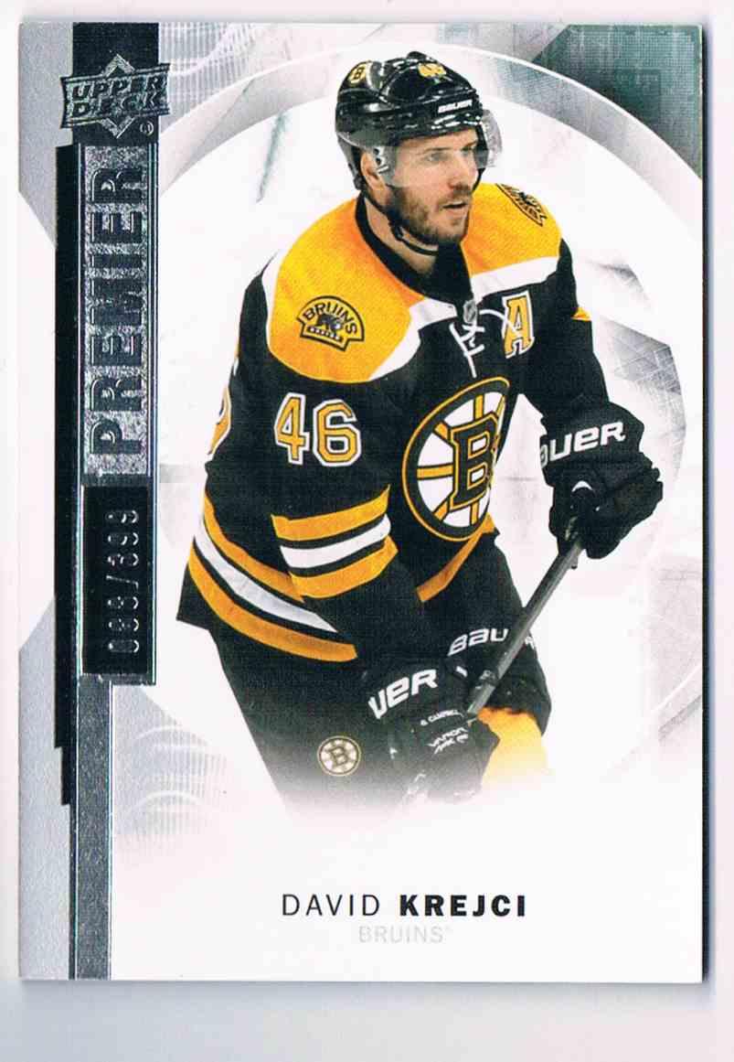 2015-16 Upper Deck Premier Base David Krejci #19 card front image
