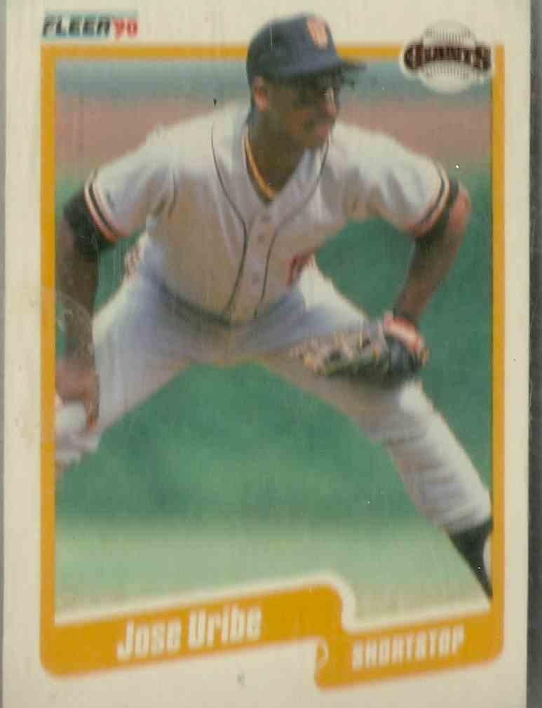1990 Fleer Jose Uribe #74 card front image
