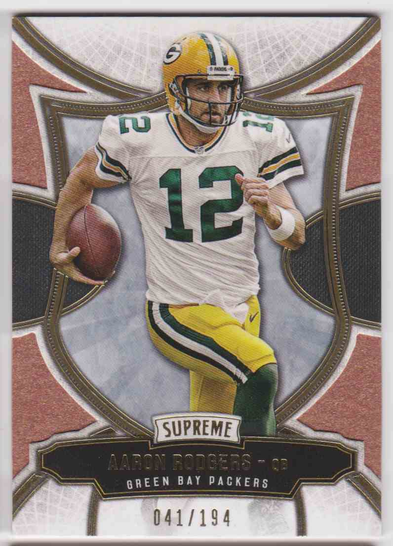 2015 Topps Supreme Copper Aaron Rodgers #4 card front image
