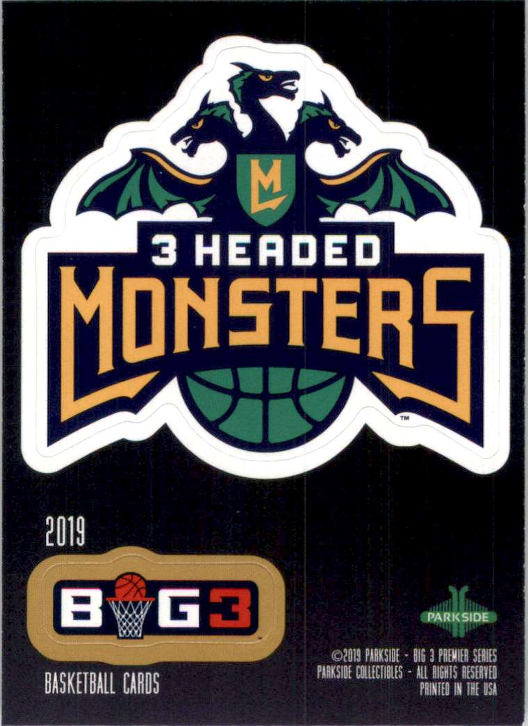 2019-20 Parkside Big3 Stickers 3 Headed Monsters Logo #2 card front image