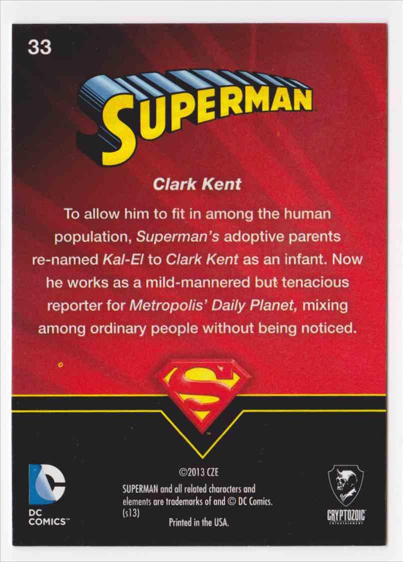 2013 Superman Cryptozoic Superman #33 card back image