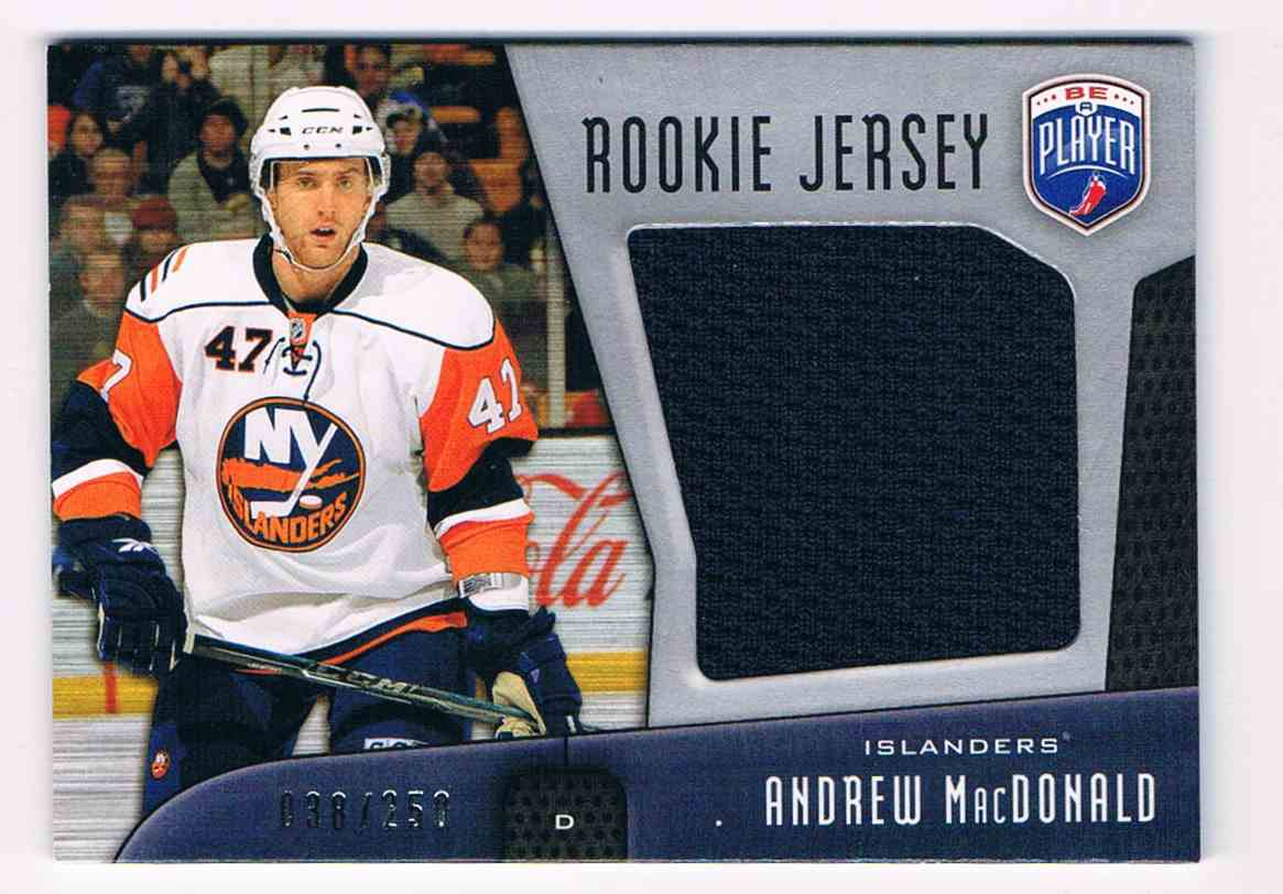 2009-10 Upper Deck Be A Player Rookie Jersey Andrew Macdonald #RJ-AM card front image