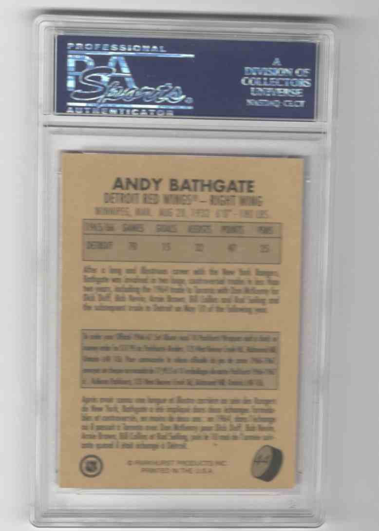 1995-96 Parkhurst 1966-67 Design Andy Bathgate #44 card back image