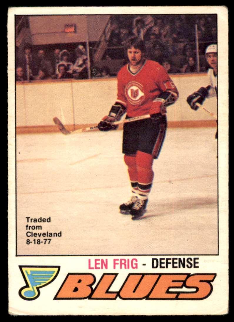 1977-78 OPC Len Frig #384 card front image