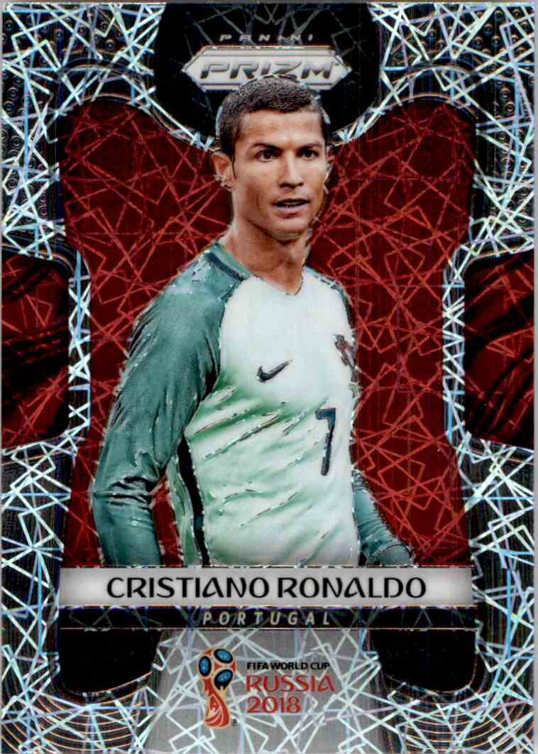 2018 Panini Prizm World Cup Prizms Lazer Cristiano Ronaldo #154 card front image