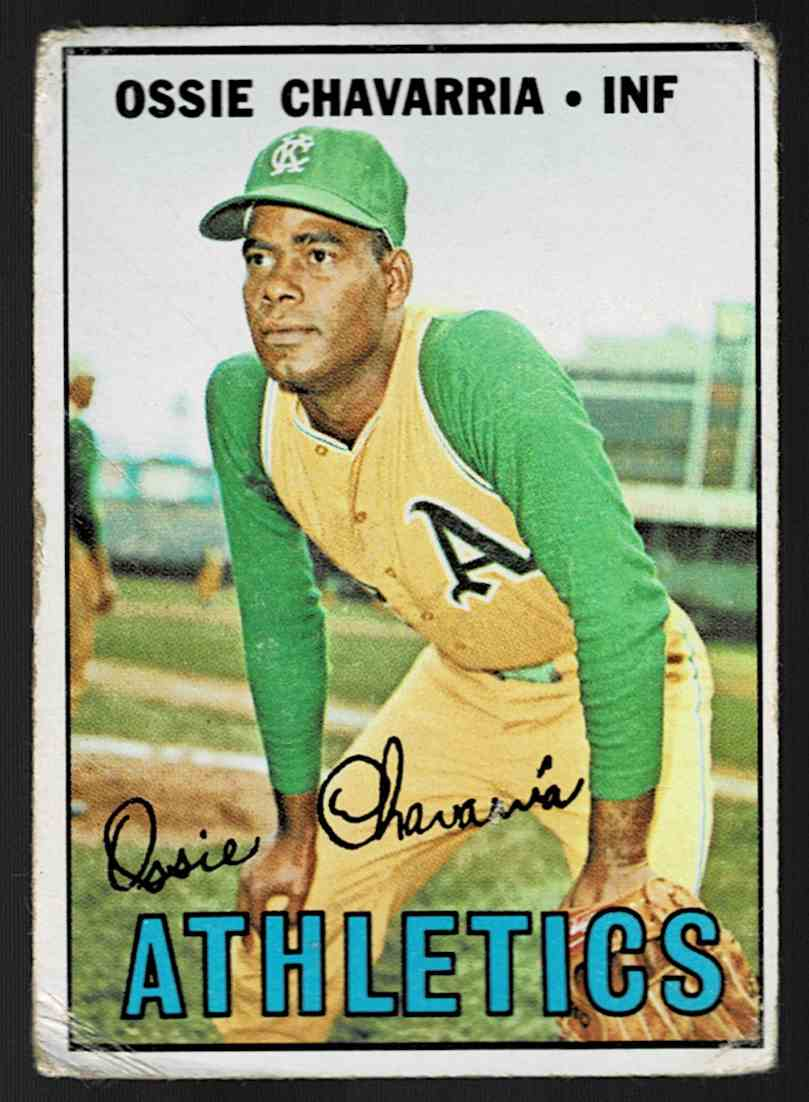 1967 Topps Ossie Chavarria #344 card front image
