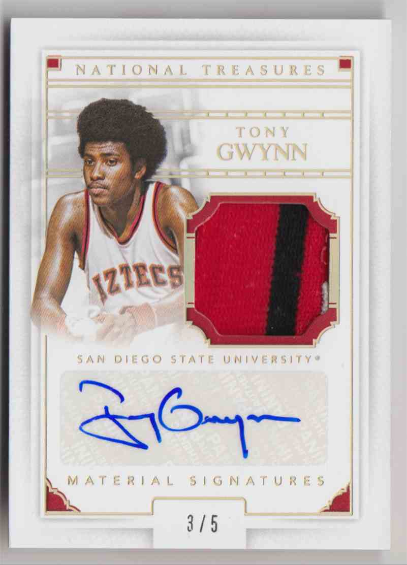 2016-17 Panini National Treasures Collegiate Tony Gwynn #82 card front image
