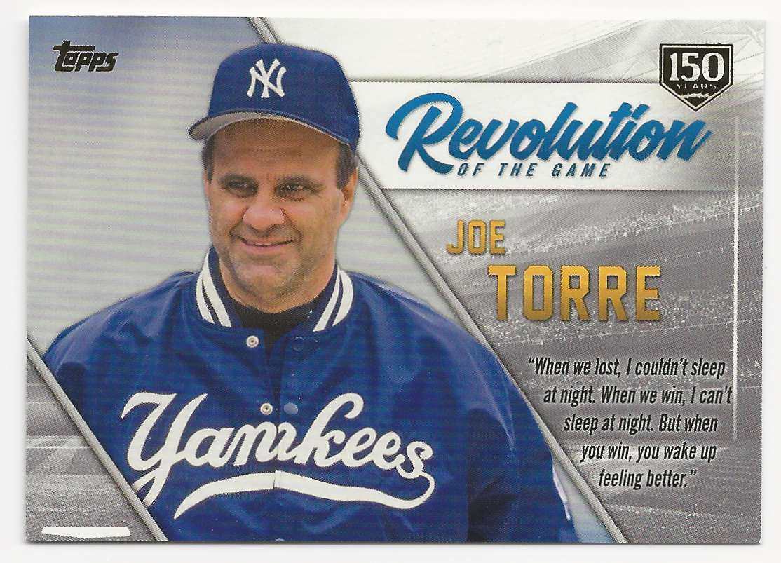 2019 Topps Revolution Of The Game 150th Anniversary Joe Torre #REV-8 card front image