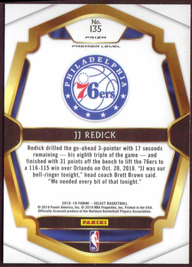 2018-19 Panini Select Premium Level Scope Jj Redick #135 card back image