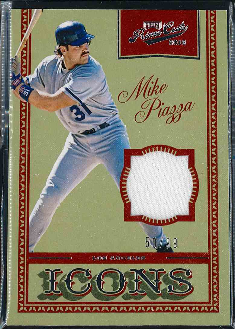 2016 Panini Prime Cuts Icons Mike Piazza #IJ-MP card front image
