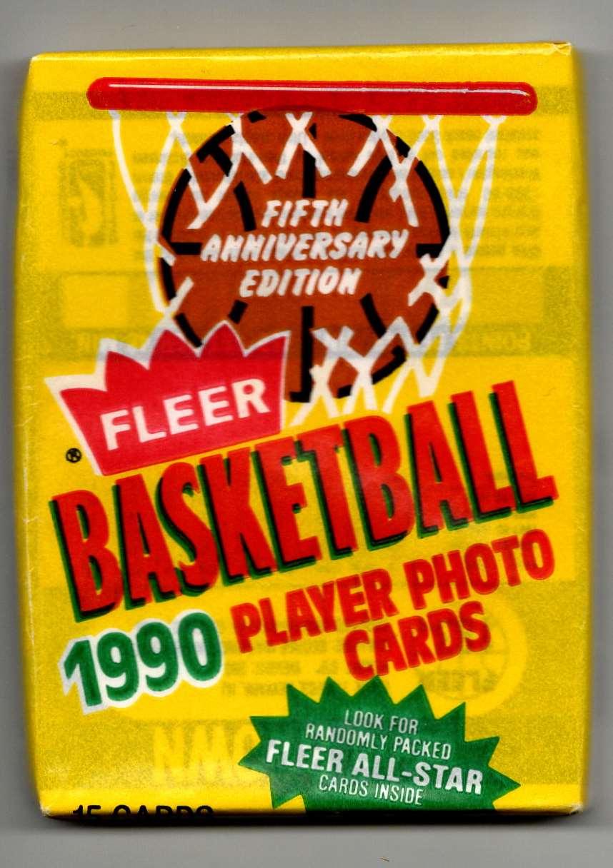 1990-91 Fleer Unopened Pack #15 card front image