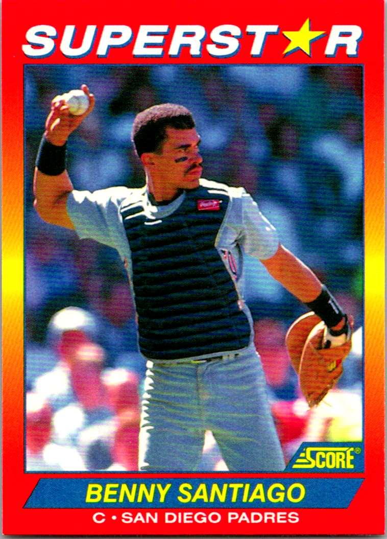 1992 Score 100 Superstars Benny Santiago #36 card front image