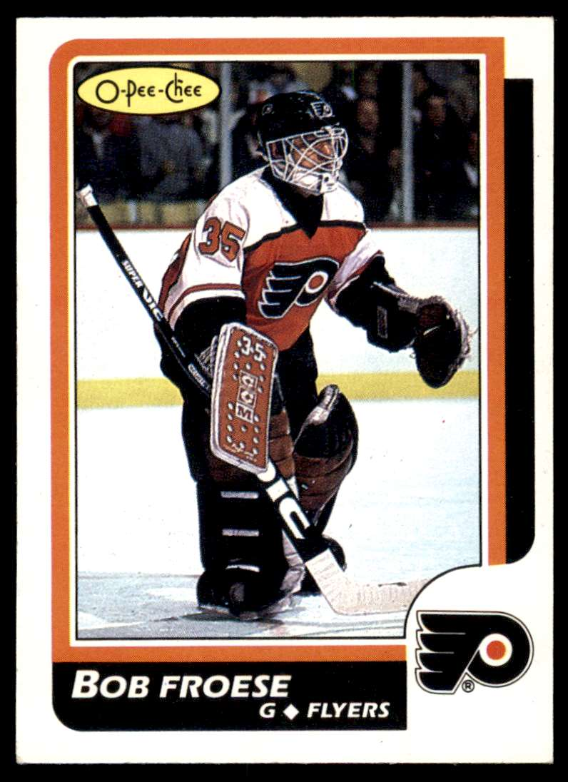 1986-87 OPC Bob Froese #55 card front image