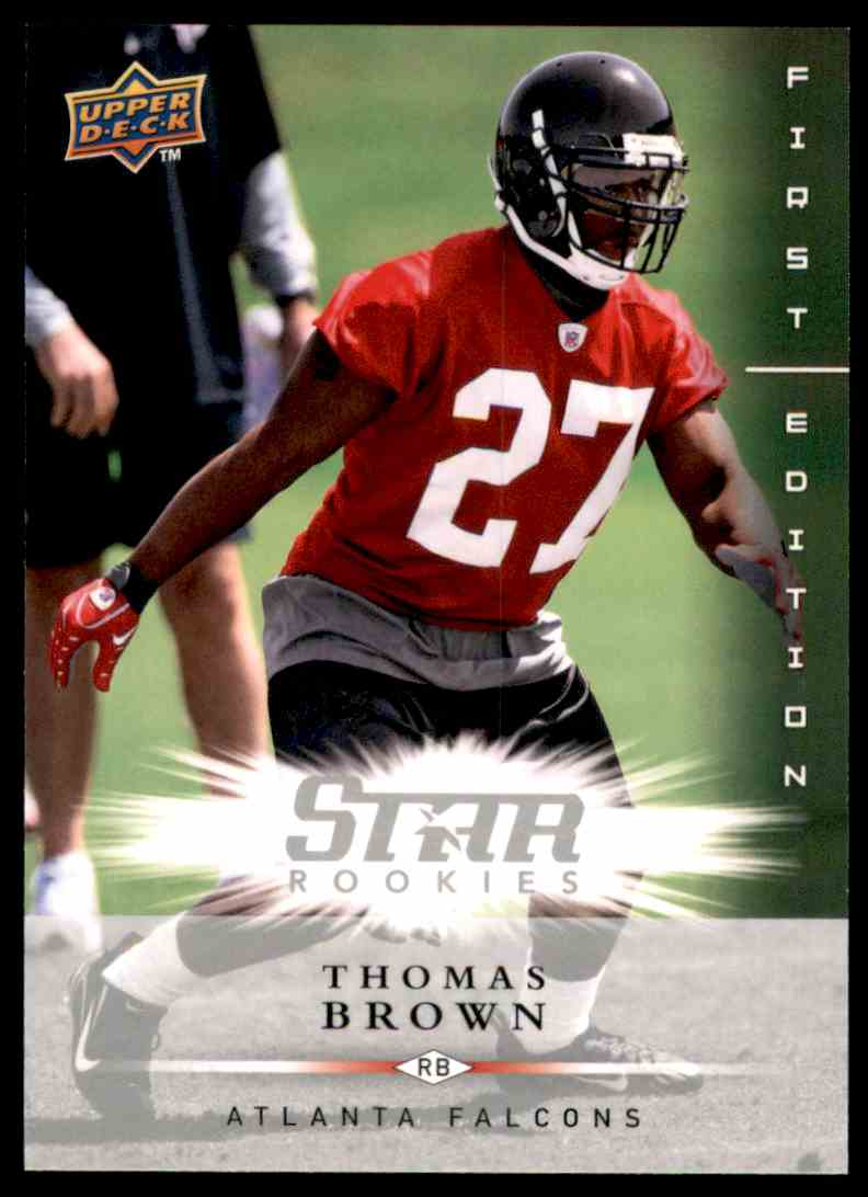 2008 Upper Deck First Edition Thomas Brown RC #195 card front image