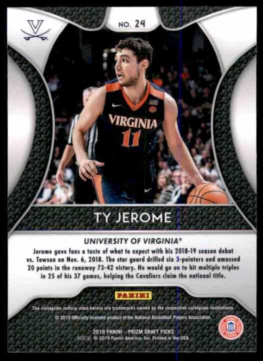 2019-20 Panini Prizm Draft Picks Ty Jerome #24 card back image