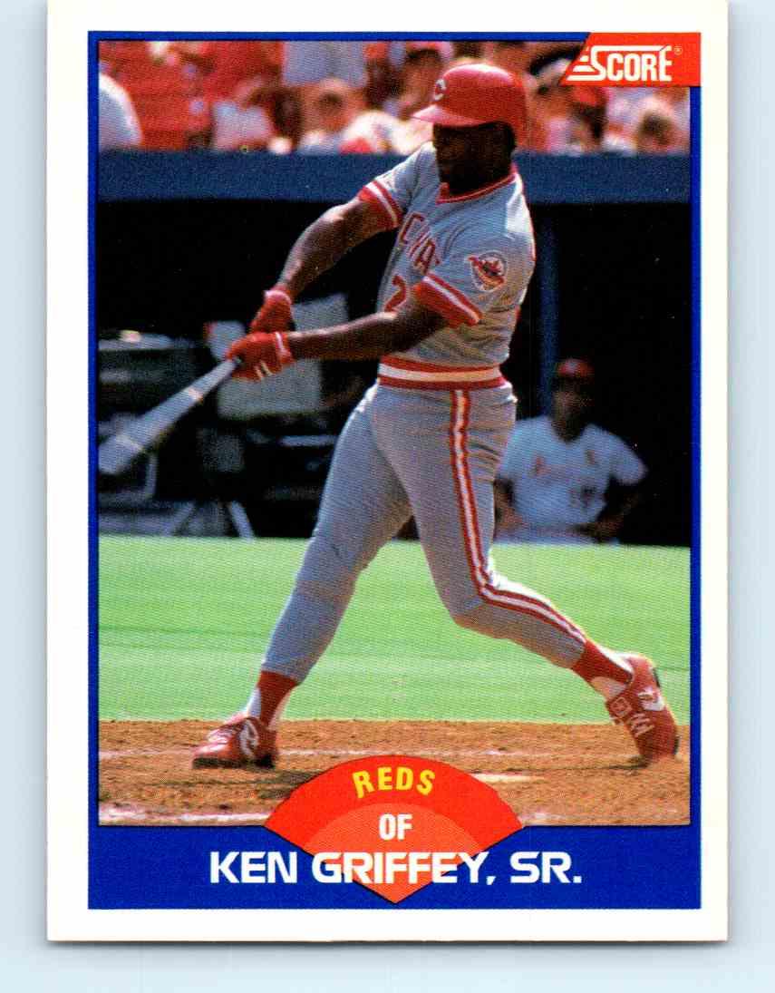 dcbf9d1ab8 1989 Score Ken Griffey, Sr. #609 card front image