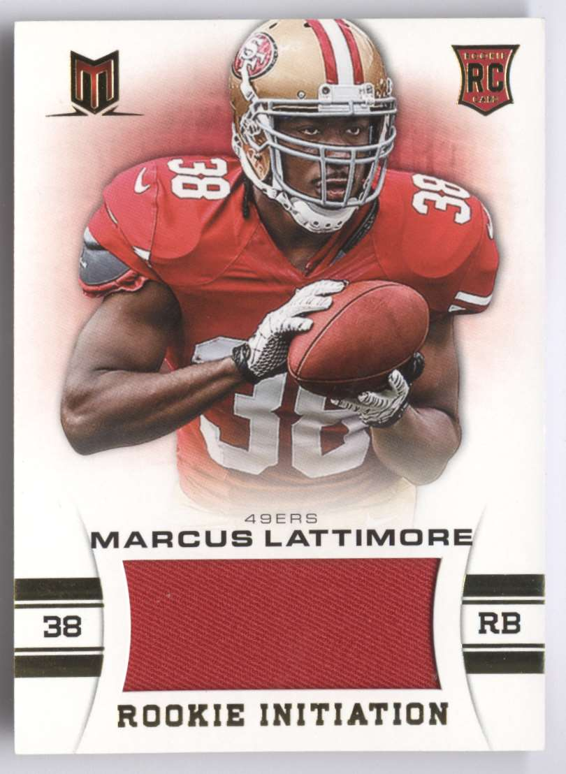 2013 Panini Momentum Rookie Initiation Materials Marcus Lattimore #63 card front image