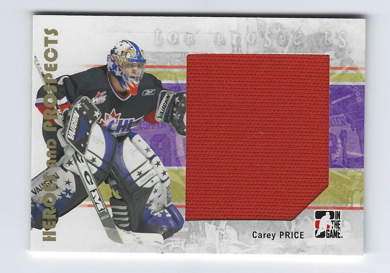 2007-08 ITG Heroes And Prospects Carey Price Tp Jsy #139 card front image