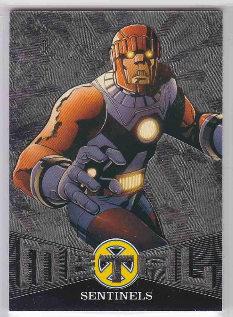 2018 Fleer Ultra X-Men Metal Blasters Sentinels #MB9 card front image