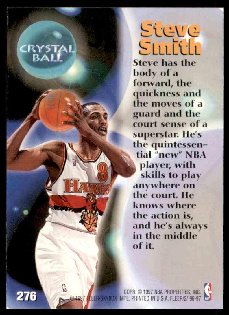 1996-97 Fleer Steve Smith Cb #276 card back image