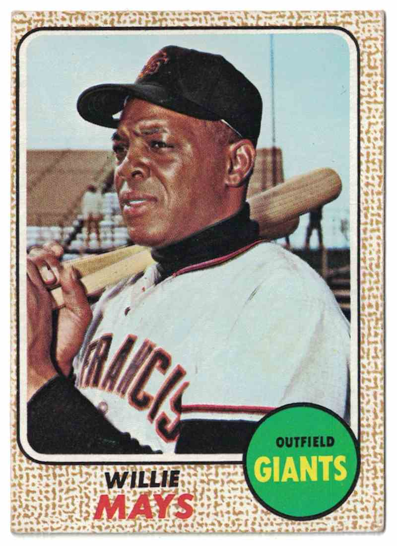 1968 Topps Willie Mays EX #50 card front image